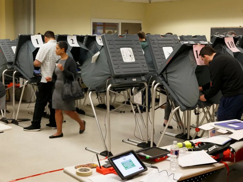 Super Tuesday voting at the Metropolitan Multi-Services Center near downtown Houston on March 3, 2020.