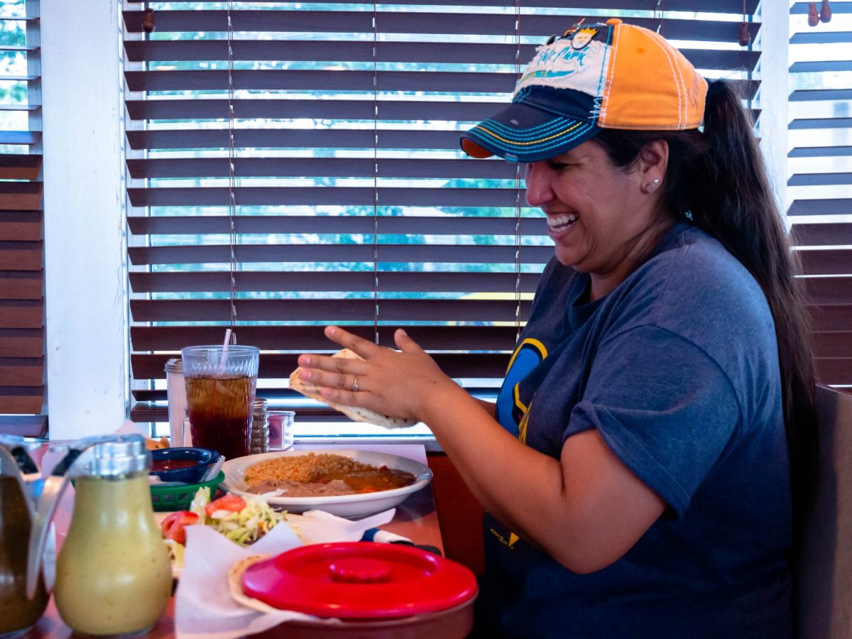 Laura enjoys eating at Taqueria Vallarta on Broadway where she is greeted warmly by staff. Her regular order is enchilads Mexicanos with puffy tacos.