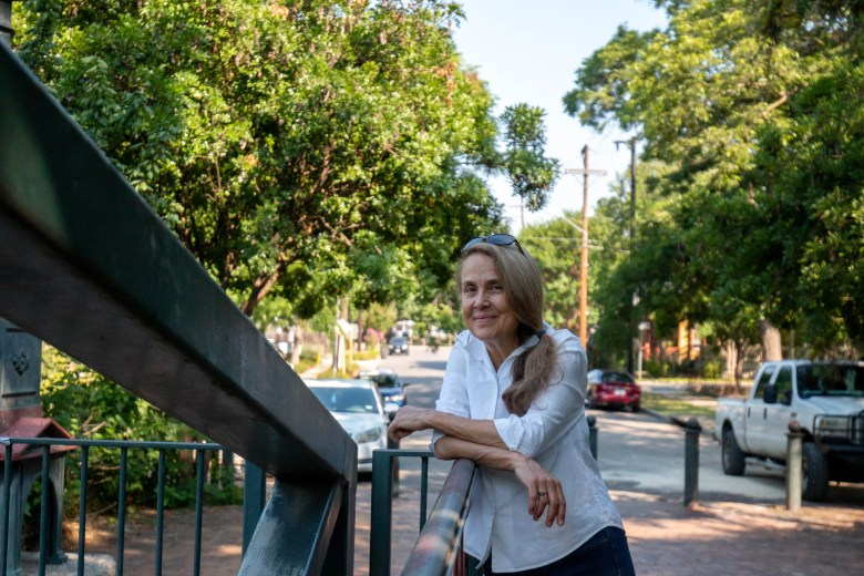 Each morning Nye walks a few blocks to the Johnson Street Bridge that goes across the San Antonio River.