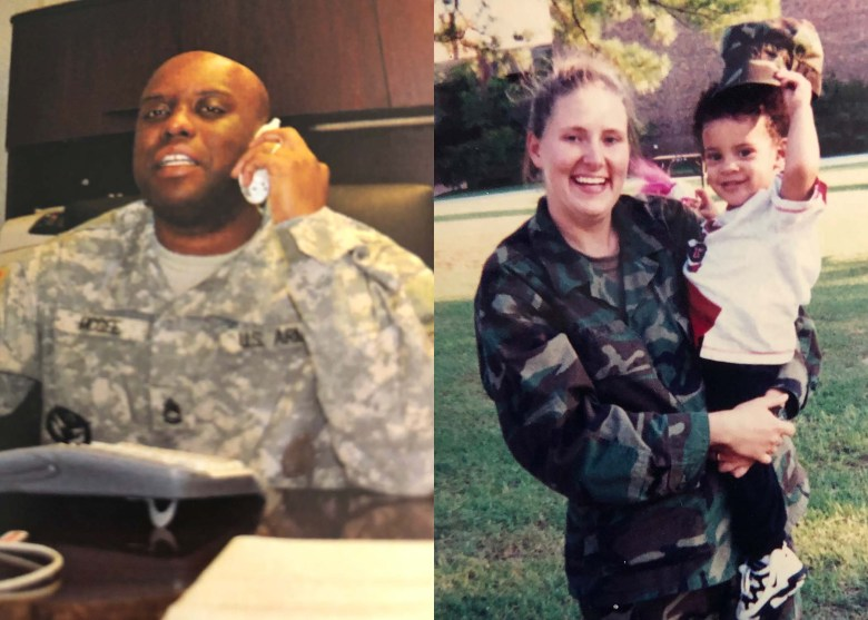 Jalen's stepfather, Michael (left) and mother, Daina (right) McGee are both Army veterans.