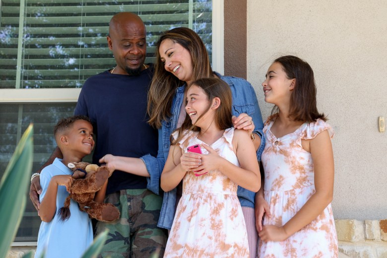 From left: Solomon, 7, Craig, Wendy, Adrianna, 8, and Ava, 11. The Ball family moved to Converse in 2018.