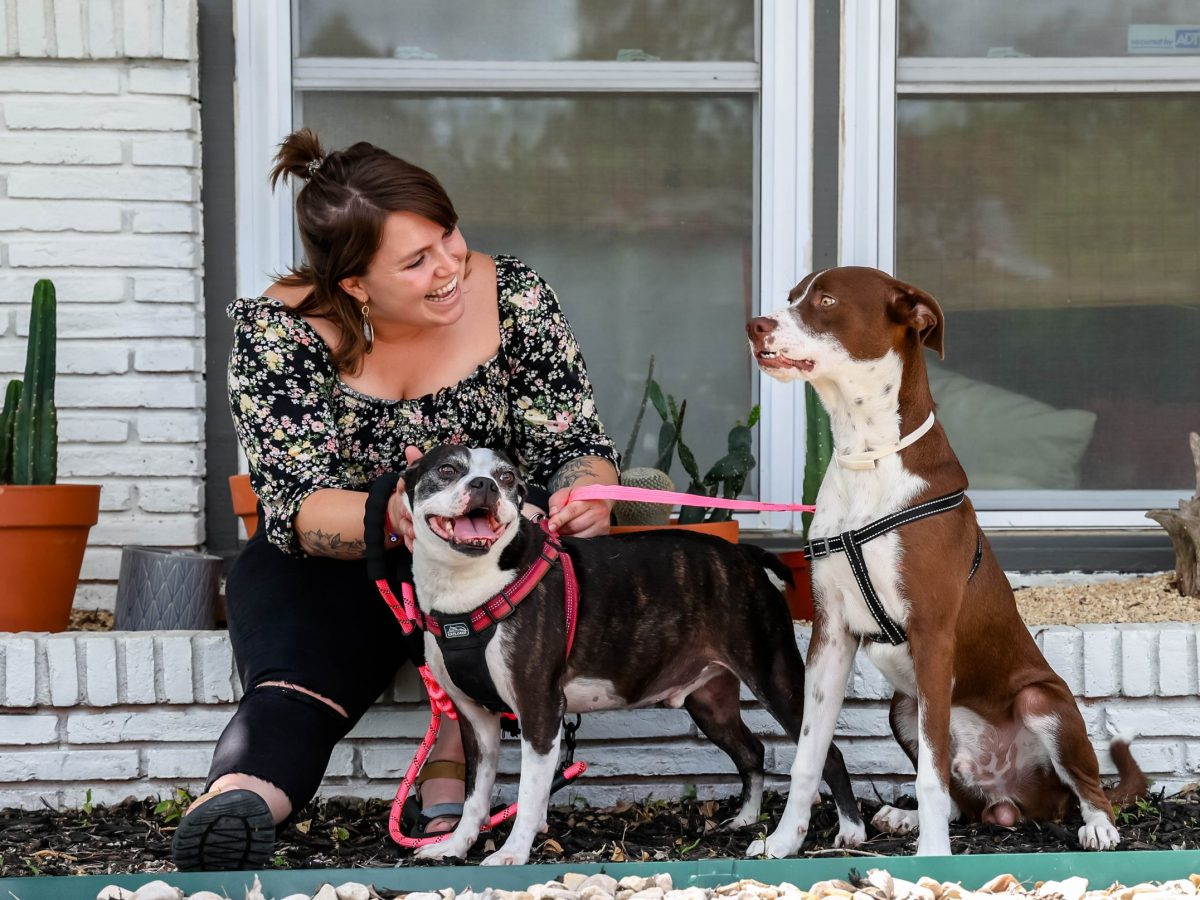Courtney Warden lives with her two dogs, Bronson and River.