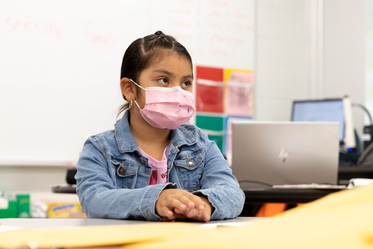 Yartiza Aguinaga, 5, beings kindergarten at Leon Valley Elementary School this year.