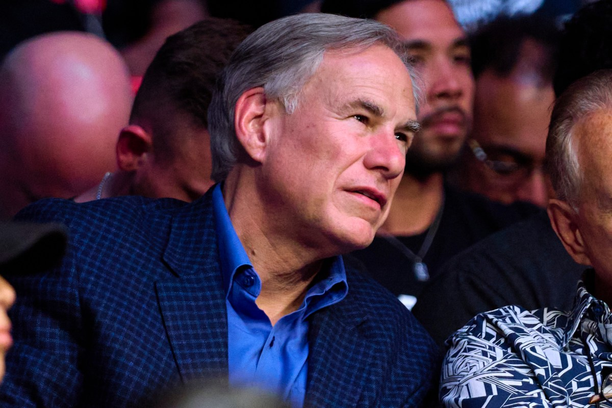 Governor Greg Abbott is seen in attendance during the UFC 265 event at Toyota Center on August 07, 2021 in Houston, Texas.
