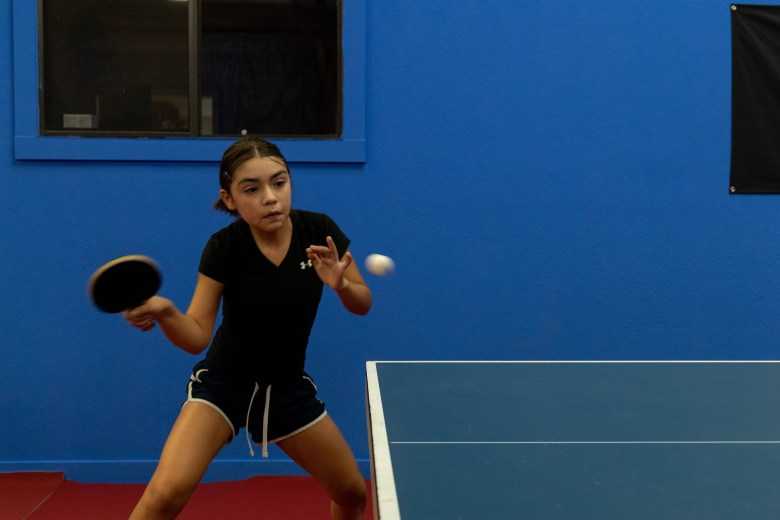 Lia Morales plays table tennis competitively and ranks 10 in the nation after picking up a paddle only two years ago.