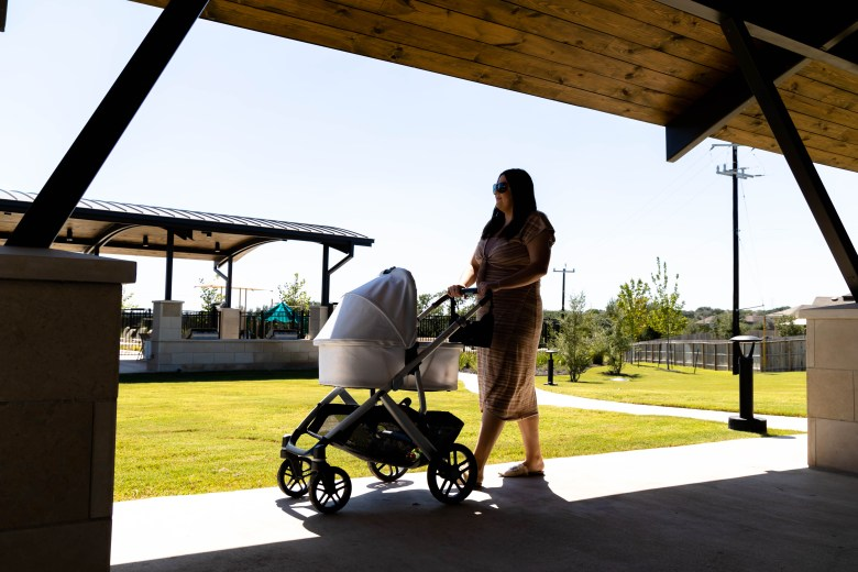 Taking her four-month-old daughter Emerson for strolls around the neighborhood is one of Garza's favorite pastimes.