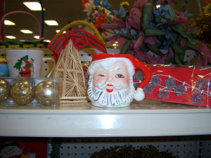 Photo of Christmas items for sale at Goodwill on Austin Highway.