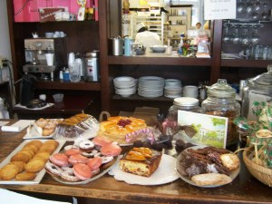 Photo of pasteries at Bistro Bakery in San Antonio, Texas.