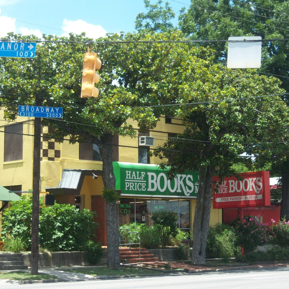 Photo of the Half Price Books on Broadway at Eleanor in San Antonio, Texas.