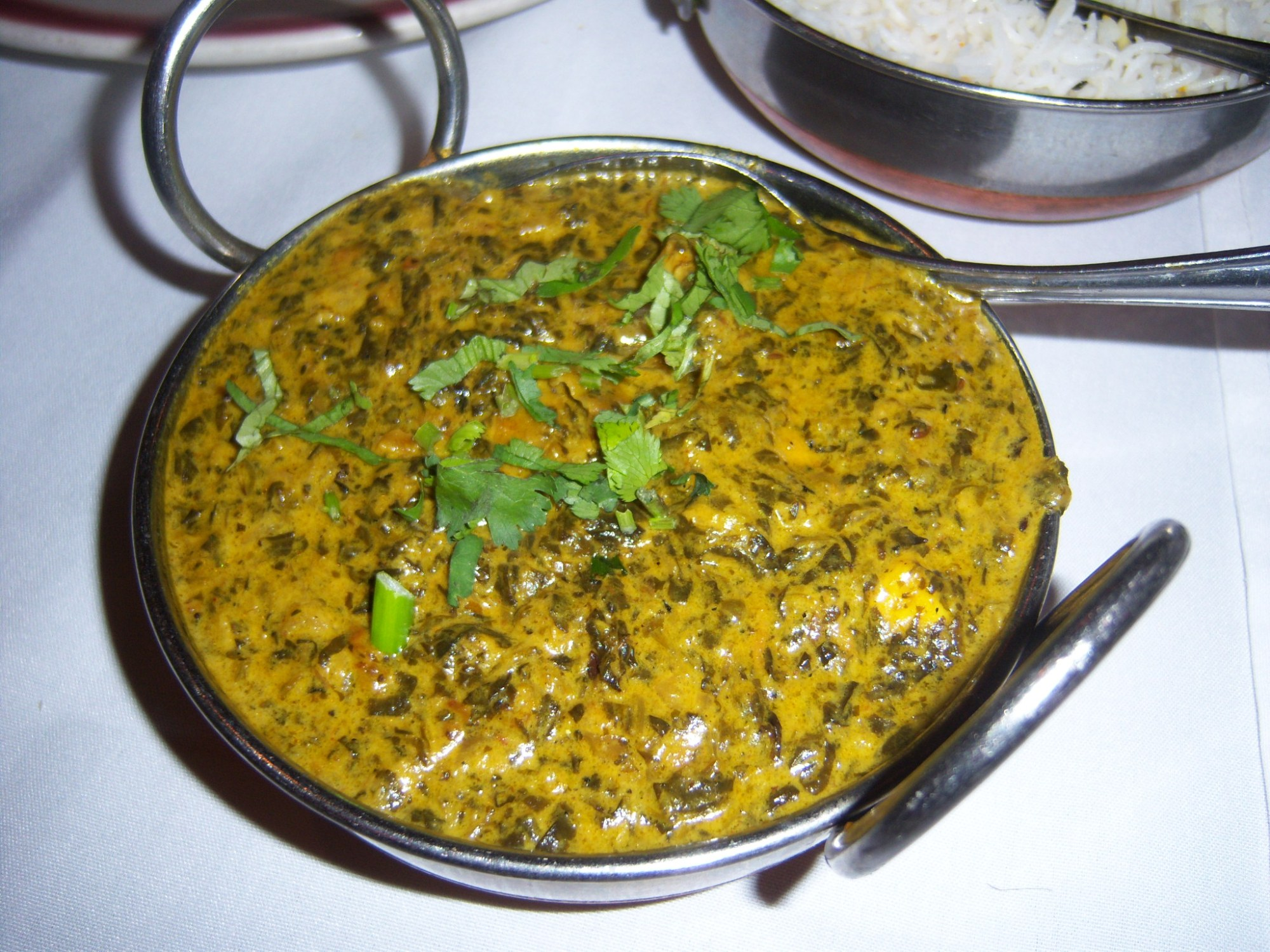 Saag Paneer at India Oven Restaurant