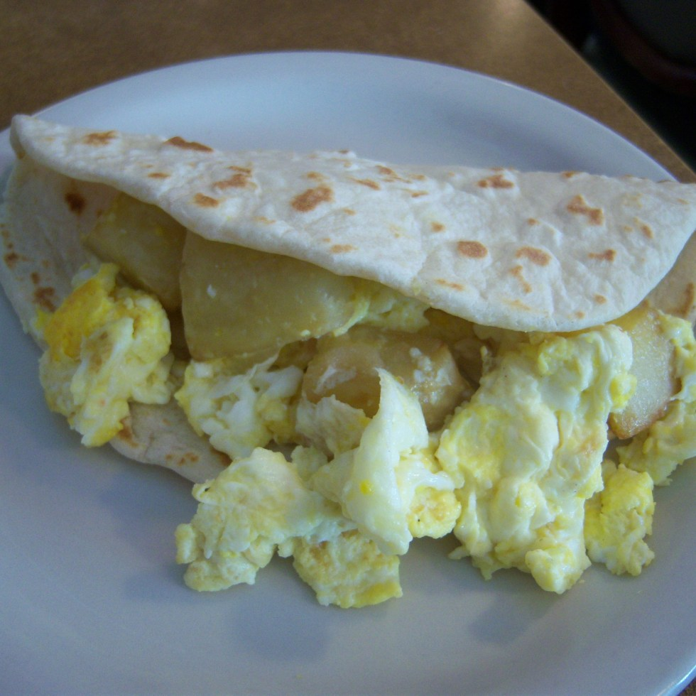 Potato and Egg Taco at Taco Taco