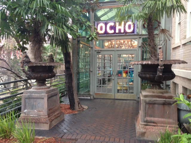 Photo of the entry to Ocho, the Hotel Havana's restaurant.