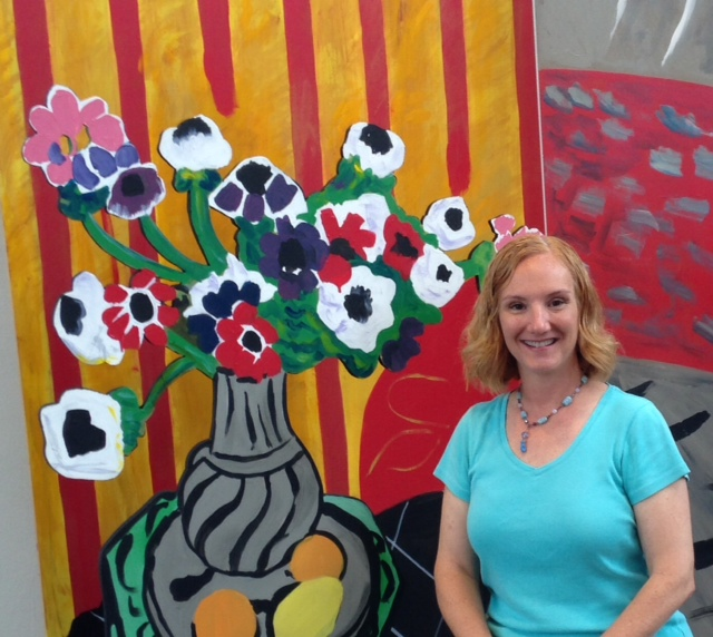 Photo of Denise Barkis Richter at the San Antonio Museum of Art's Matisse exhibit in 2014.