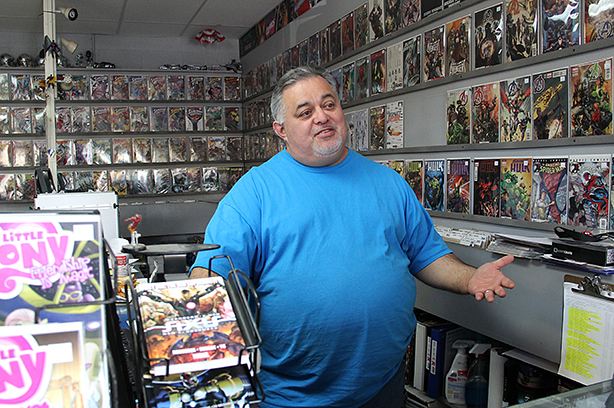 Pedro Contero, owner of Collector's Authority comic store, and his brother-in-law opened their shop in 1996 after realizing their vast collection of comics was enough to fill a store. The store is now located at 1534 SE Military Dr. Photo by Monica Lamadrid, Mesquite News.
