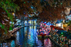 Photo of Luminarias on the River Walk by Nan Palmero