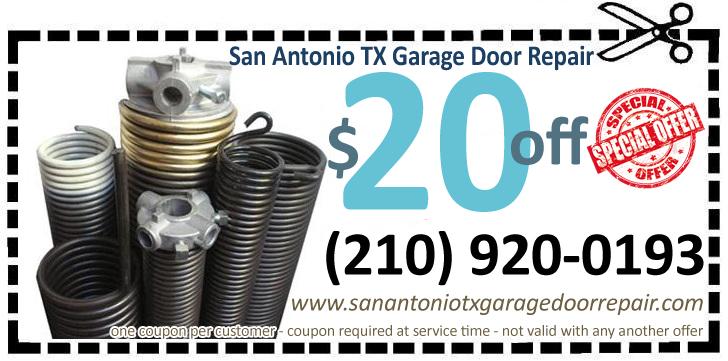 San Antonio TX Garage Door Repair  Replace Spring  San Antonio Texas