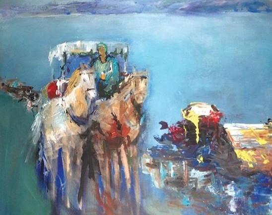 Ayşegül Bayraktar & Martı,deniz ve atlar