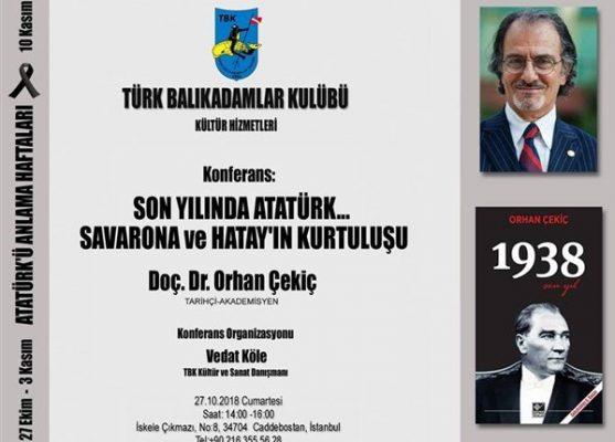 27 Ekim Cumartesi Günün Konferansı