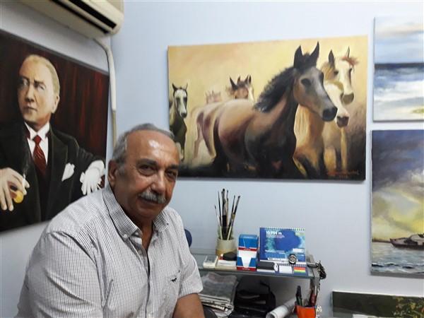 """Ressam Mehmet Kartal, """"Sanatçılar desteklenmeli"""""""