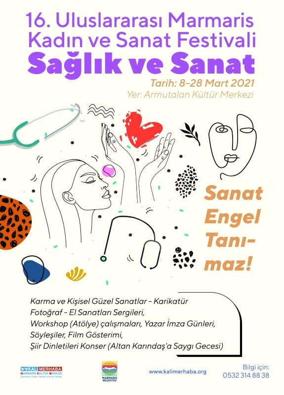 16. Uluslararası Marmaris Kadın ve Sanat Festivali Başladı