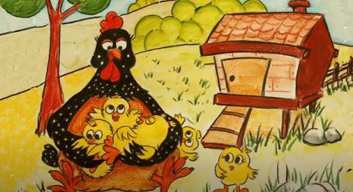 Çiftçilik Yapan Çil Tavuk