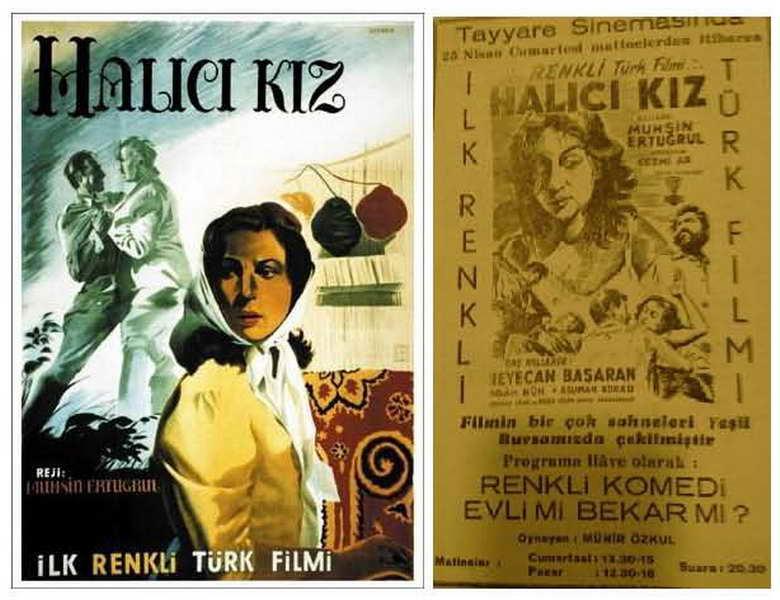 """Renkli İlk Türk Filmi """"HALICI KIZ"""""""
