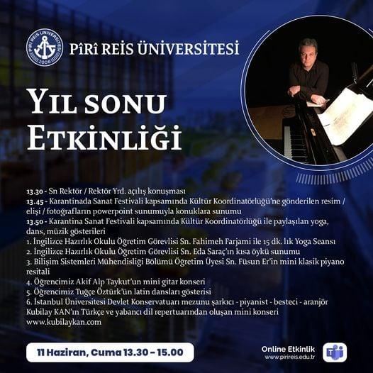 Kubilay Kan Piri Reis Üniversitesi Konseri