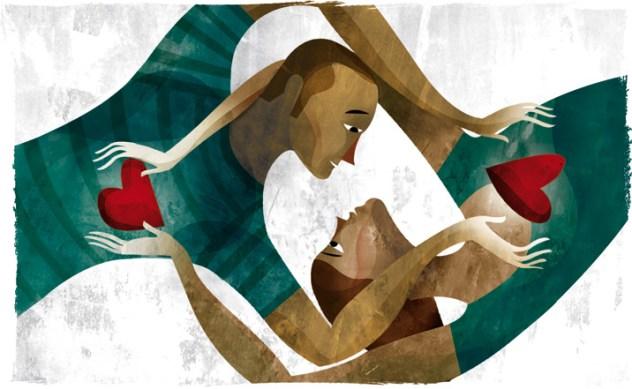 Ilustración: 'Amor Humano' by julianlorenzo.com