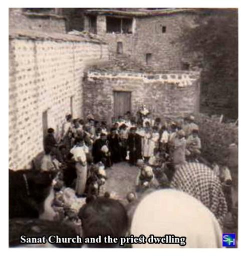 Sanat Church and the priest dwelling كنيسة سناط ومسكن الكاهن