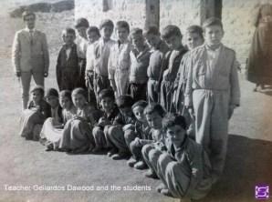 Teacher Gellardos Dawood and the students