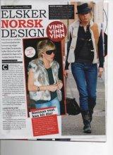 se og hør magazine Sienna Miller wearing Sanaz Shirazi