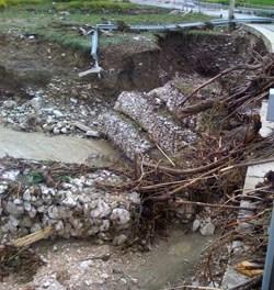 Nubifragio nel Fortore, viabilità in tilt