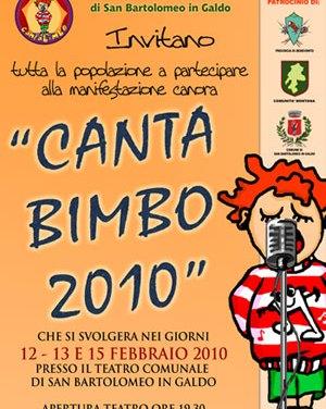Canta Bimbo 2010