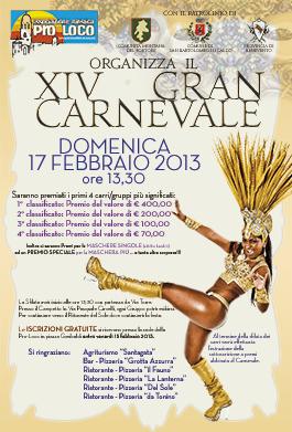 Domani il XIV Gran Carnevale di San Bartolomeo in Galdo