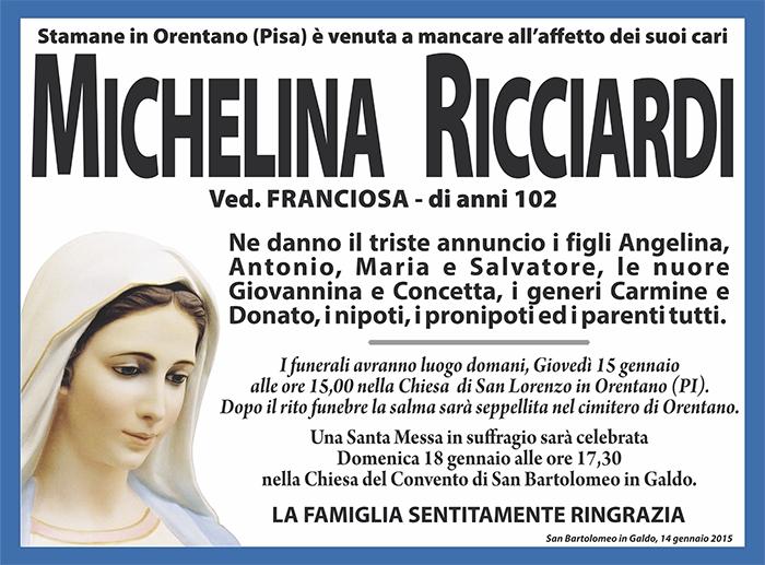 Michelina Ricciardi