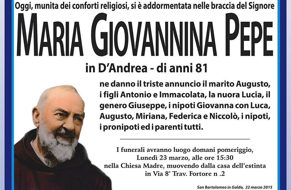 Maria Giovannina Pepe