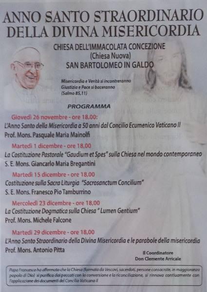 Ciclo di conferenze Chiesa Nuova – Dicembre 2015