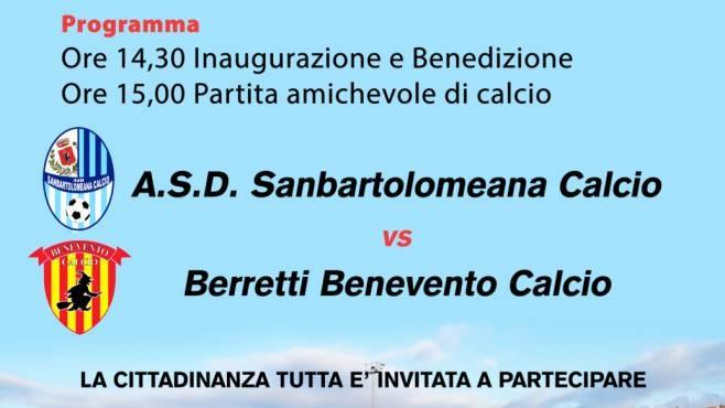 San Bartolomeo, oggi si inaugura il campo sportivo