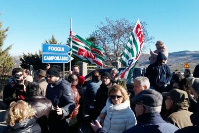 Bloccata da una manifestazione di protesta la strada che collega l'Alto Sannio alla Capitanata e quindi alla Puglia