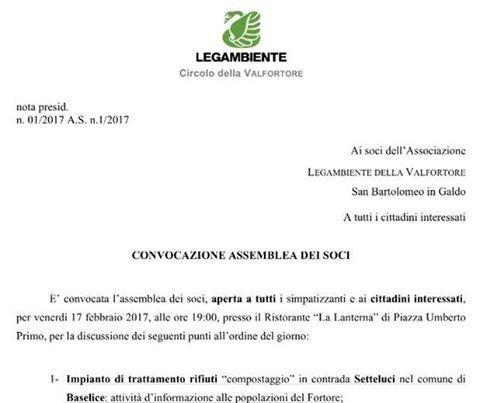 Revoca del sito di compostaggio, preoccupata Legambiente Fortore