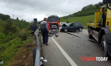 Volturara Appula, incidente stradale sulla Statale 17: due feriti gravi