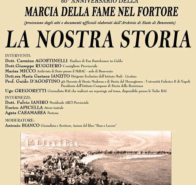 Valfortore e la sua storia, San Bartolomeo ricorda la marcia della fame del 1957