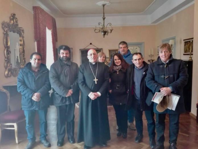La delegazione del Comitato Viabilità Negata incontra SE il Vescovo di Ariano Irpino - Lacedonia