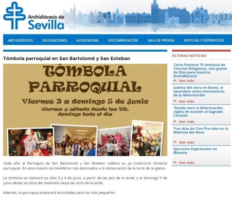 2016-06-03 11_48_01-Tómbola Parroquial En San Bartolomé Y San Esteban _ Archidiócesis De Sevilla
