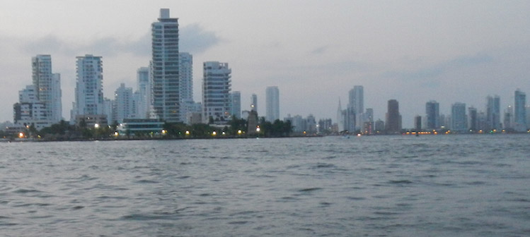Cartagena Colombia skyline