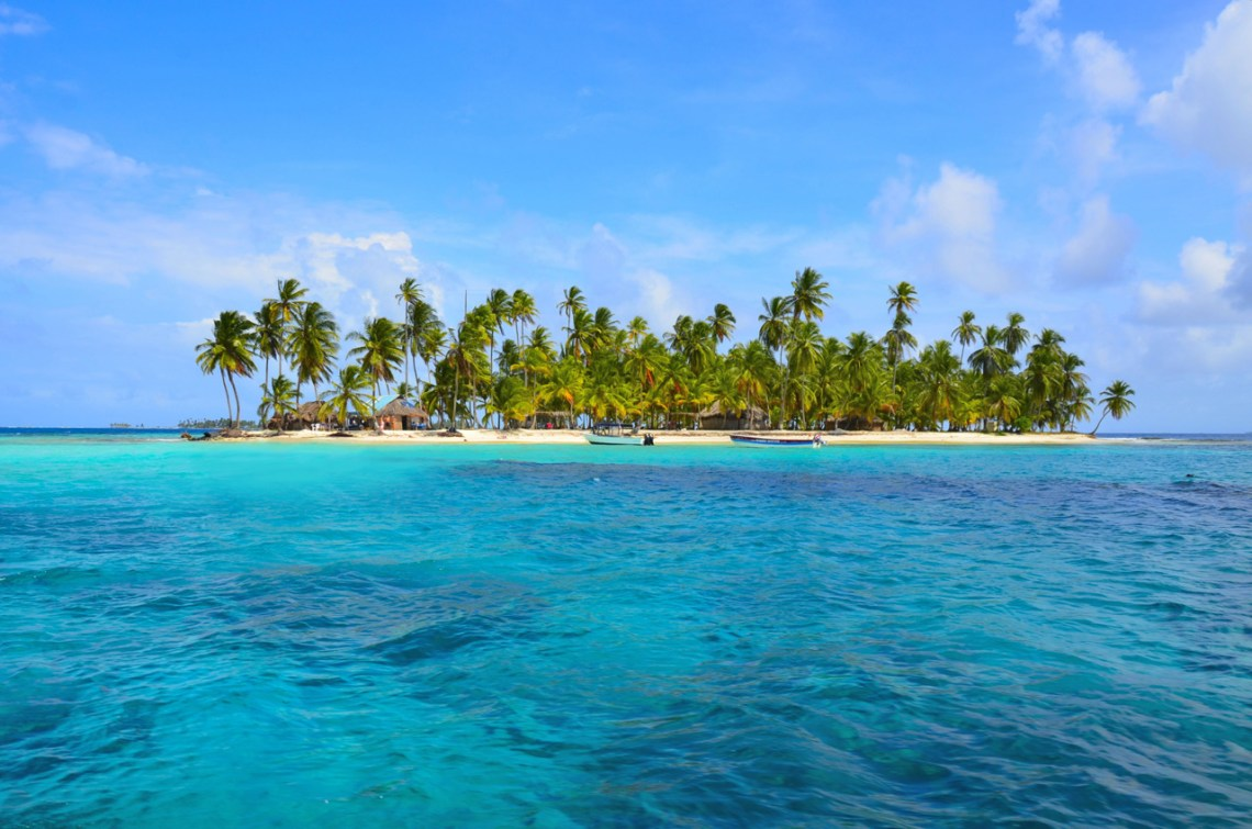 San Blas Islands from a distance