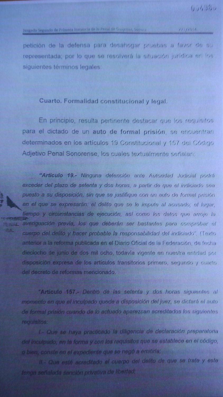 Charges against Maria Carmen Ordaz Aguiar; Falsification of ...