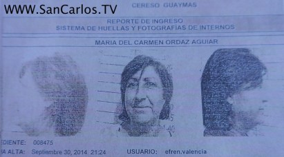 Carmen Ordaz Mug Shot newer