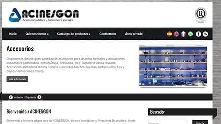 Web Acinesgón, SANcotec