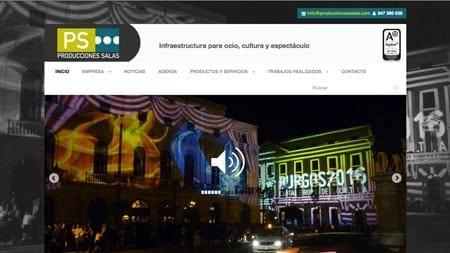 Producciones Salas web
